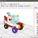 LeoCAD projekty 3d z LEGO